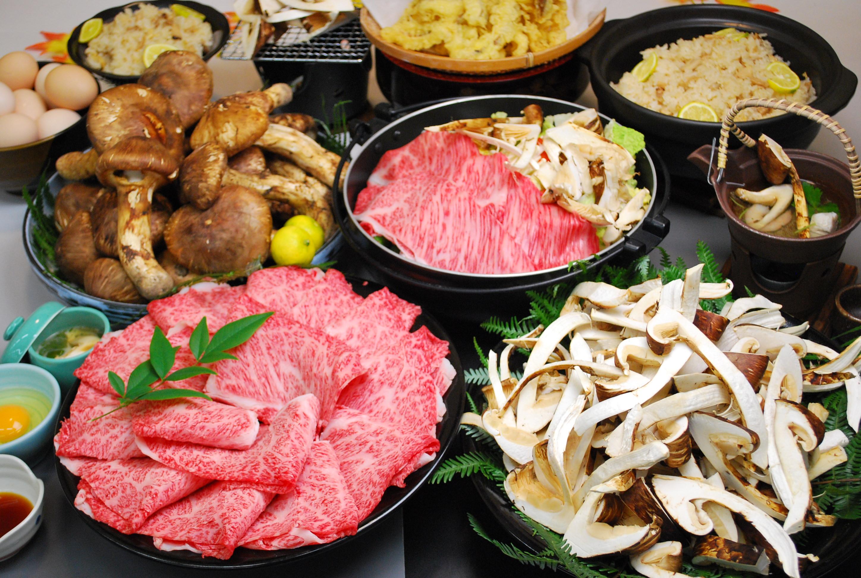 丹波 秋の松茸・丹波牛の暴れ食い食べ放題